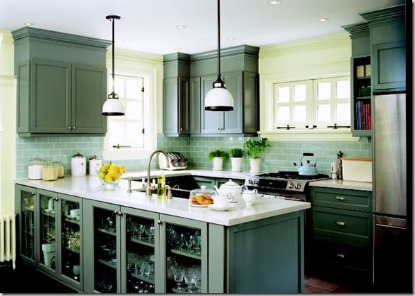 Kitchen:  Complement same family of shades with backsplash, cabinets and walls...