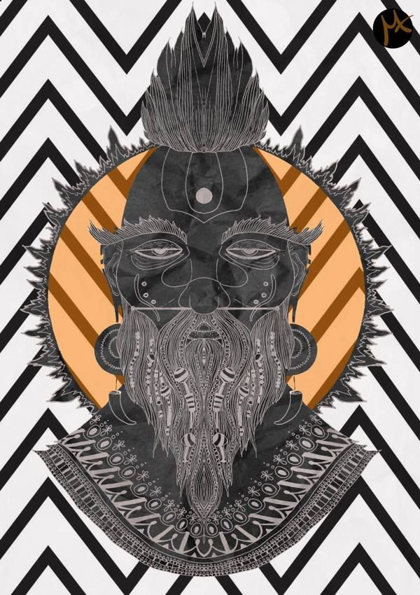 Made-up GODS by Milena Taranu, via Behance