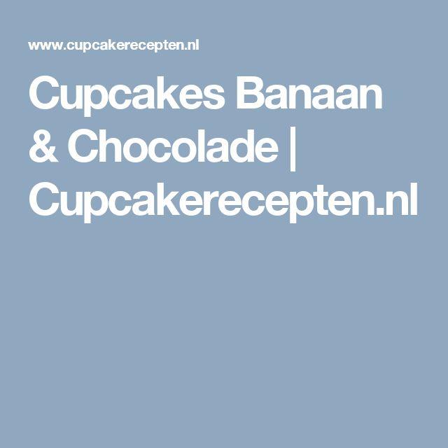 Cupcakes Banaan & Chocolade | Cupcakerecepten.nl