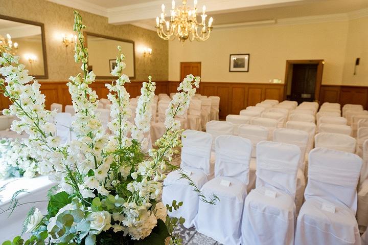 Civil wedding ceremony at Nunsmere Hall