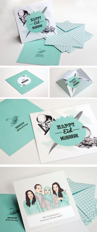 Eid Mubarak Greeting Card on Behance