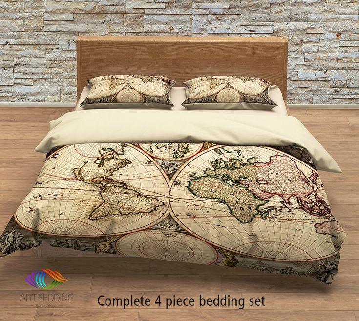 The 7 best images about comforter on pinterest vintage map bedding vintage old map duvet cover antique map queen king gumiabroncs Gallery