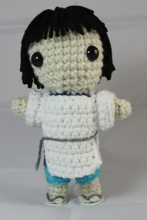Haku Doll from Spirited Away- Free Amigurumi Pattern here: http://amiguru.tumblr.com/post/71243499555/haku-pattern