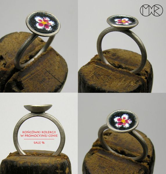 ring - sterling silver and enamel - nr 18 von MartaRudnicka auf DaWanda.com