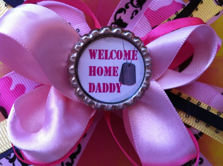 Military Homecoming Welcome home Daddy by TheGaudyGirlExchange