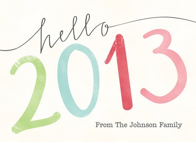Hello Colorful 2013 New Year's Card