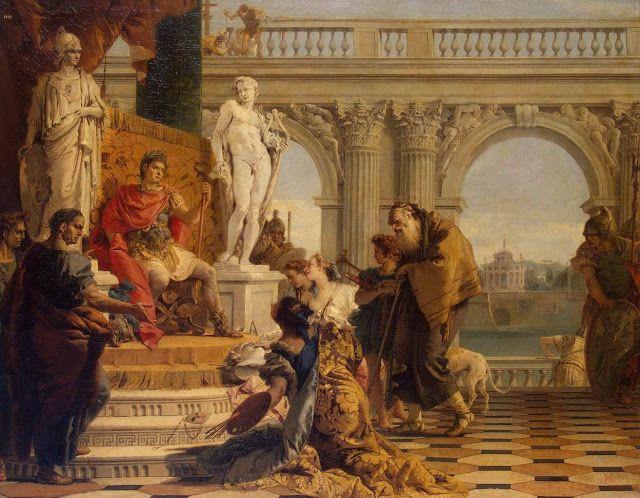Ο αυτοκράτορας Αύγουστος παρακολουθεί παράσταση.  (1743)