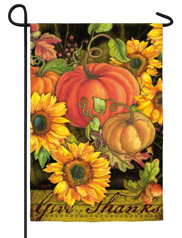 IAmEricas Flags   Pumpkins And Sunflowers Suede Reflections Garden Flag,  $14.00 (http:/