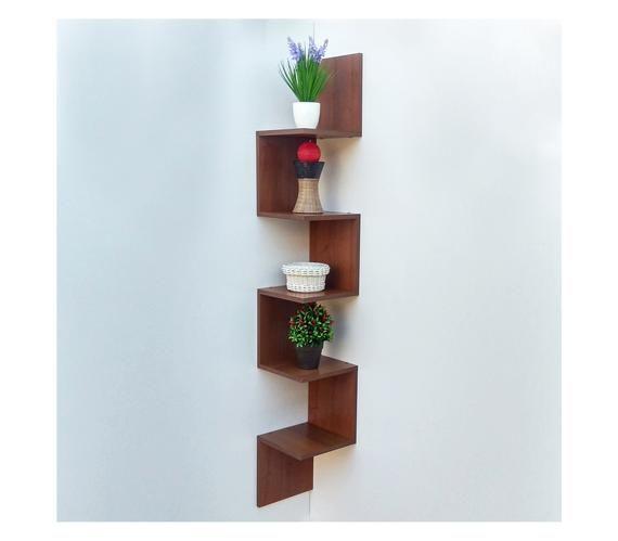 3-Tier Wall Mounted Corner Shelf Bathroom Cabinet Unit White 25 x 25 x 63 cm