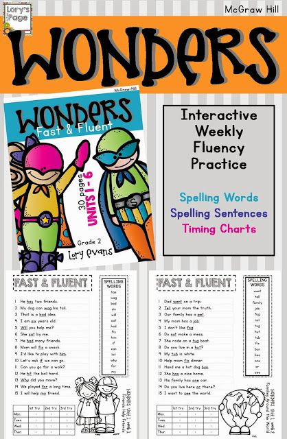 Mcgraw Hill Wonder   Fast and Fluent practice using spelling words from the program.