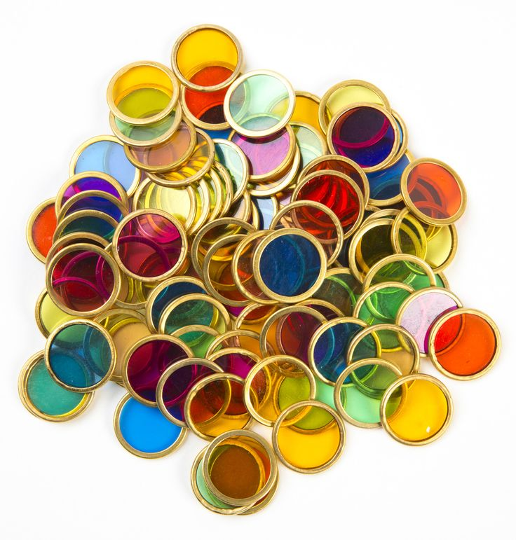 Metal Rimmed Counting Chips – Notes From a Home Educator