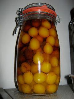 Recette de conserves de prunes de mirabelle