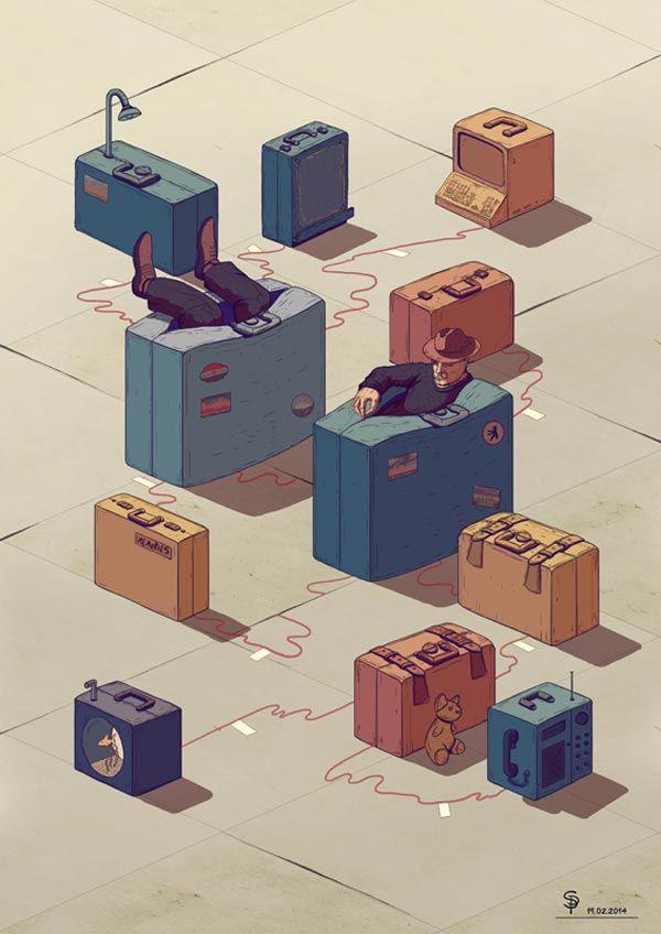 Editorial Illustrations by Stefan Pfürtner