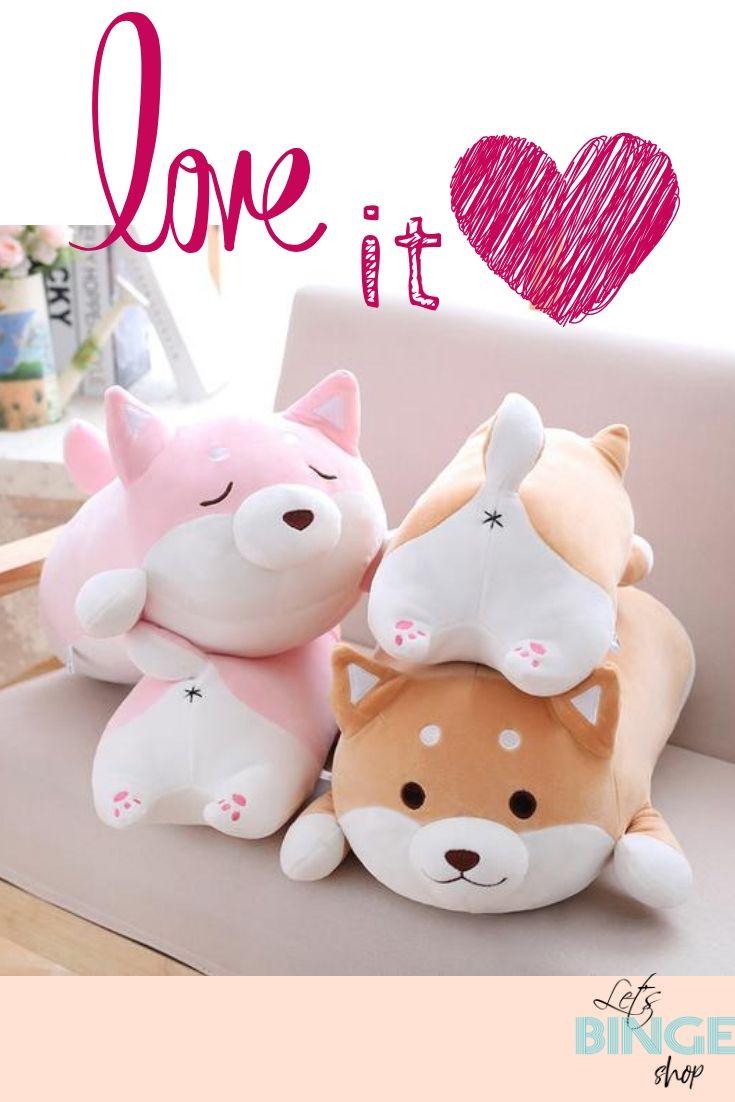 Cute Shiba Inu Plush Pillow Shiba Inu Plush Pillows Kawaii Animals