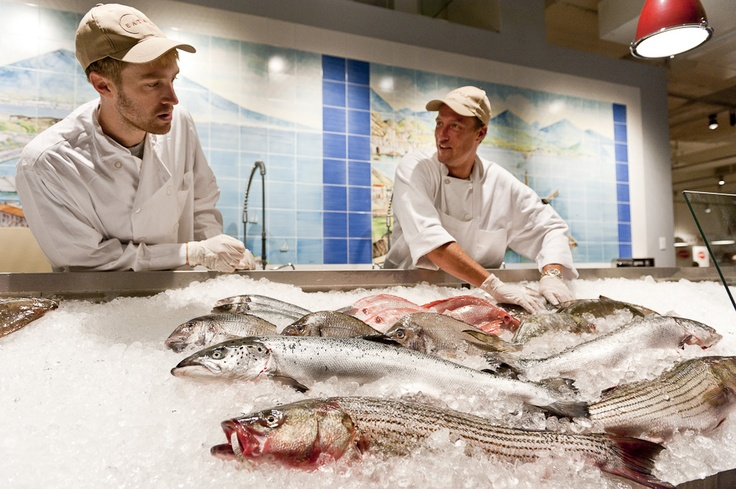 Fish on ice at Eataly