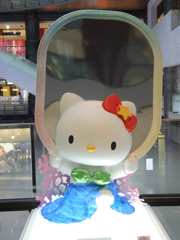 """Exhibit from the """"Art Kitty Parade"""" a Hello Kitty art exhibition celebrating 1st Anniversay of the opening of the Grand Front Osaka shopping complex. Photo: April 2014"""