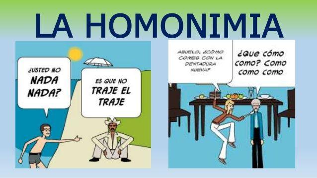 LA HOMONIMIA