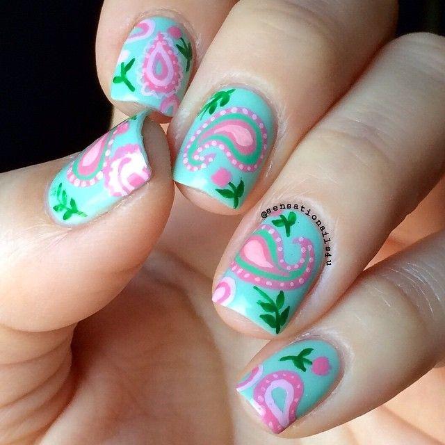 1000+ Ideas About Paisley Nail Art On Pinterest