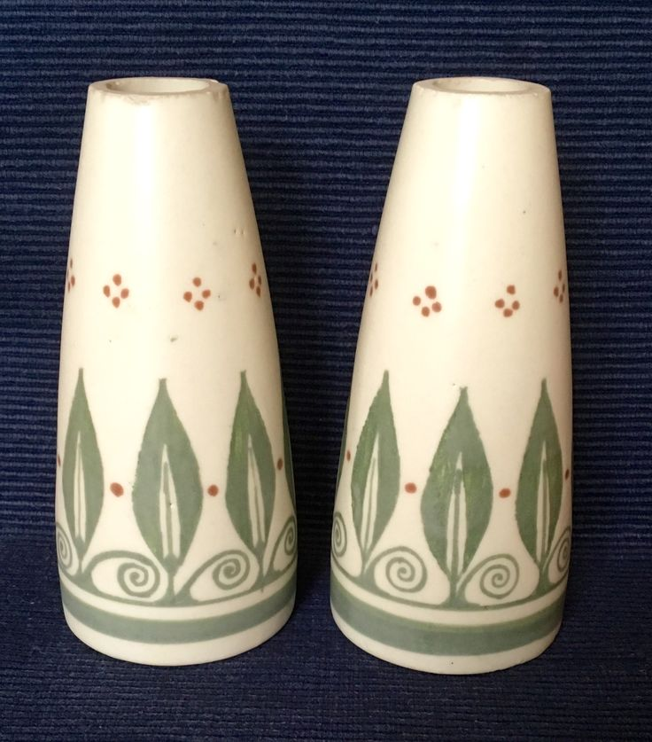 Bert Nienhuis vases executed by De Distel Amsterdam circa 1920. Dutch Nieuwe Kunst.