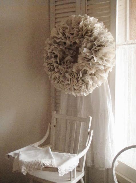 A Paper Wreath - Cabin & Cottage