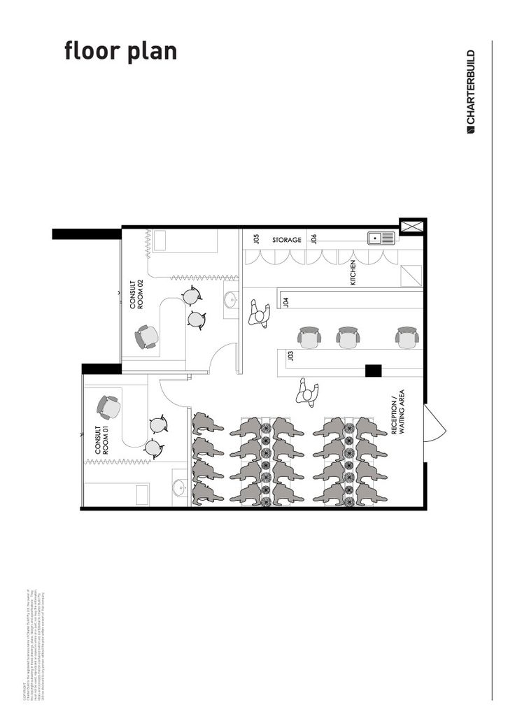 Example floor plan - medical consulting room   workplaces