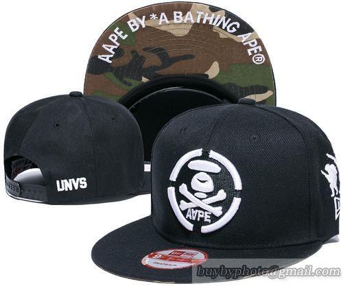 A1282 AAPE A Bathing Snapback Hats Black