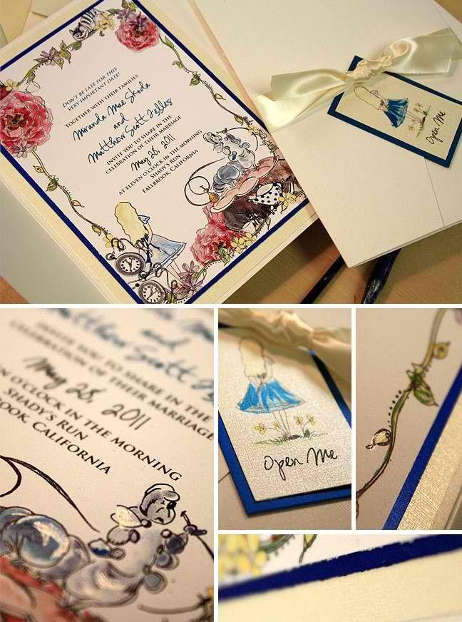 Whimsical Alice in Wonderland invites 263 best