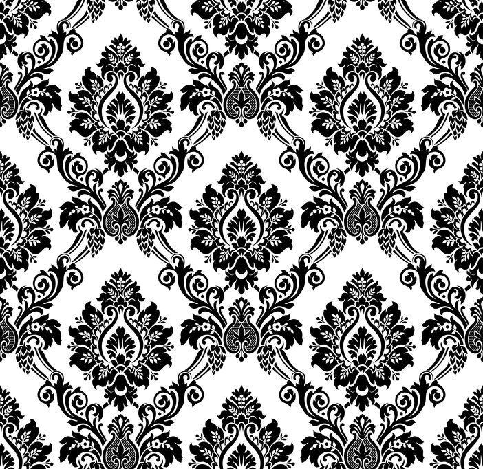 noir et blanc baroque style