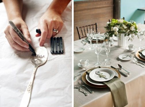 Love This Diy Hammered Spoon Place Card