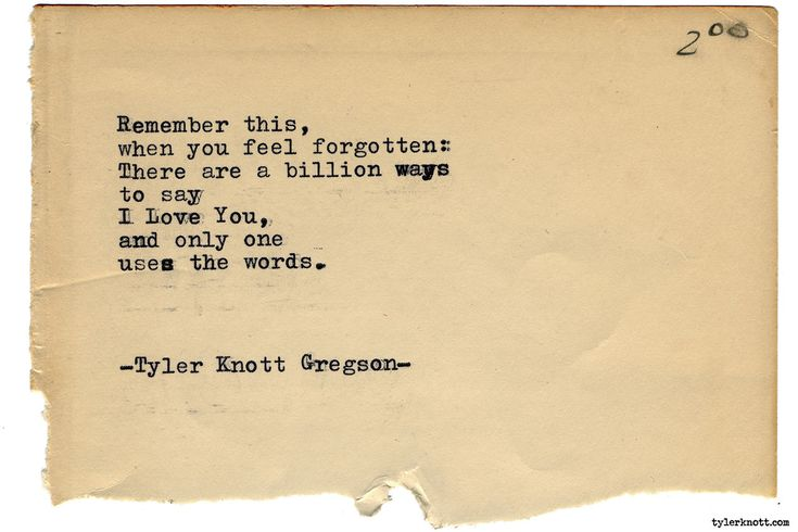 Typewriter Series #1937 by Tyler Knott Gregson Check out my Chasers of the Light Shop! chasersofthelight.com/shop