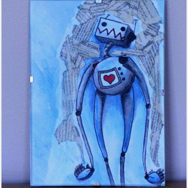 Robot water colour painting