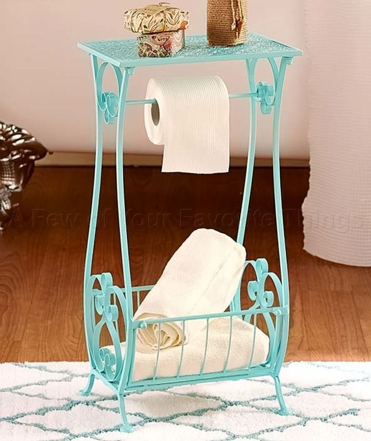 Add a pop of color and instant storage with this Punched Metal Bathroom  Stand  This. Best 25  Bathroom stand ideas on Pinterest   Old sewing machine