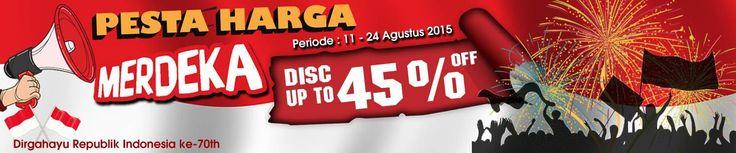 "dalam memperingati hari kemerdekaan republik indonesia Kliknklik.com mengadakan sebuah promo menarik yaitu ""Promo Harga Merdeka Disc Up to 45% off"" untuk sejumlah produk khusus. produk apa saja itu langsung saja lihat di : http://kliknklik.com/"