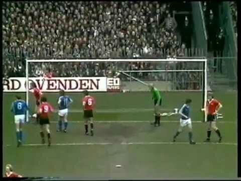 Ipswich Town 6 Man Utd 0 in March 1980 at Portman Road. United keeper Gary Bailey's dad, Roy, used to be a goalkeeper for Ipswich Town #Div1