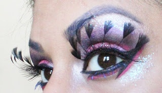 Aqeela MUA: Ladyboys of Bangkok Challenge   feather eyelashes!