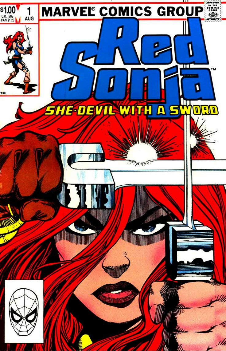 Red Sonja Vol. 3 #1 cover by Walt Simonson.