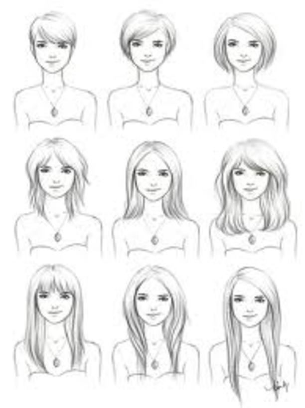 Nice visual on hair lengths.  Great to take with you to the salon.