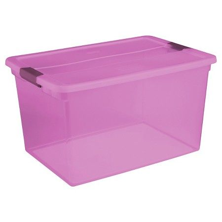 Sterilite® ClearView Latch™ 66 Qt./16.5 Gal Storage Bin - Purple : Target $7.99 Target.com