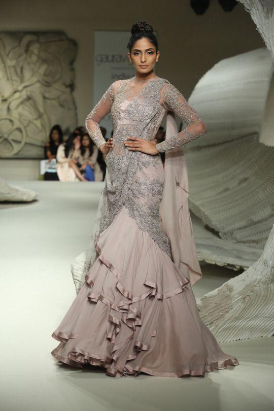 Gaurav Gupta - India Couture Week 2016 pinned by A Sari A Day - @asariaday