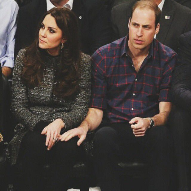 Seated courtside for Brooklyn Nets vs Cleveland Cavaliers game tonight #williamandkatenyc #katemiddleton #nbagame