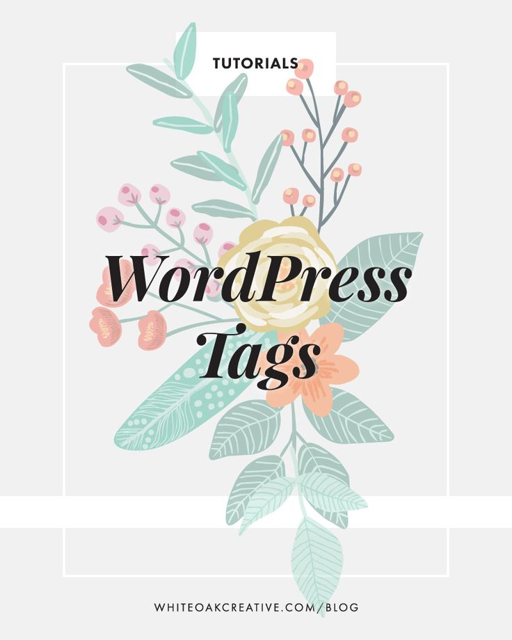 How to use tags on your WordPress blog posts // So many WordPress beginners get confused about the difference between categories and tags. This post explains exactly what WordPress tags are and how you should be using them to improve your blog posts.