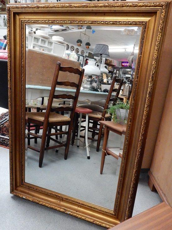 Brocante Spiegels Te Koop.Te Koop Grote Facet Geslepen Spiegel In Brocant Gouden Lijst