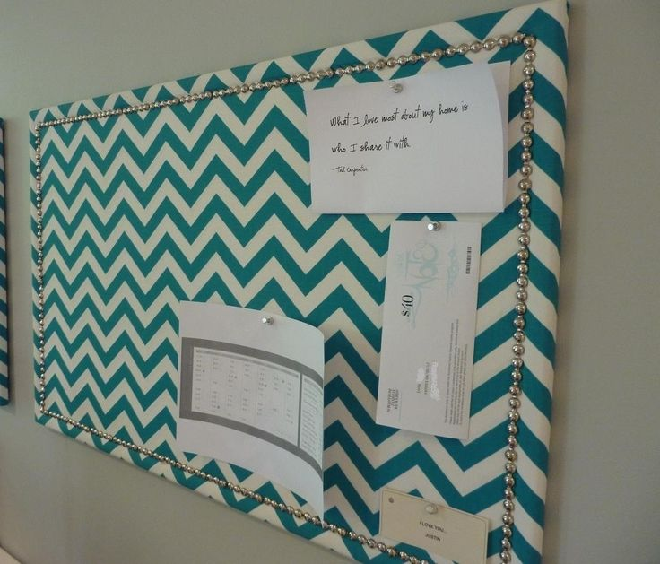 diy fabric corkboard dorm decor pinterest chevron