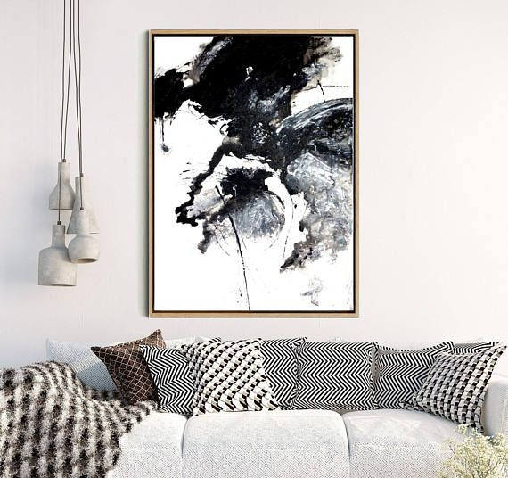 Abstract Art, Wall Art, Black And White Print, Minimalist Art , Giclee Print, Home Decor, Wall Decor