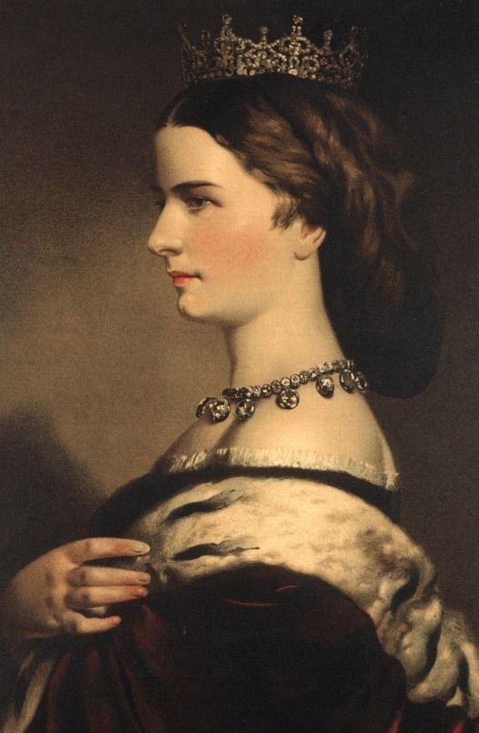 Eduard Kaiser, Elisabeth of Bavaria (Sissi).  They say she never smiled for pictures because she had bad teeth.  She had a lot of idiosyncrasies. Fascinating woman.