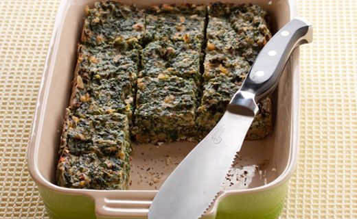 Sylvie's Lunchbox Spinach Squares