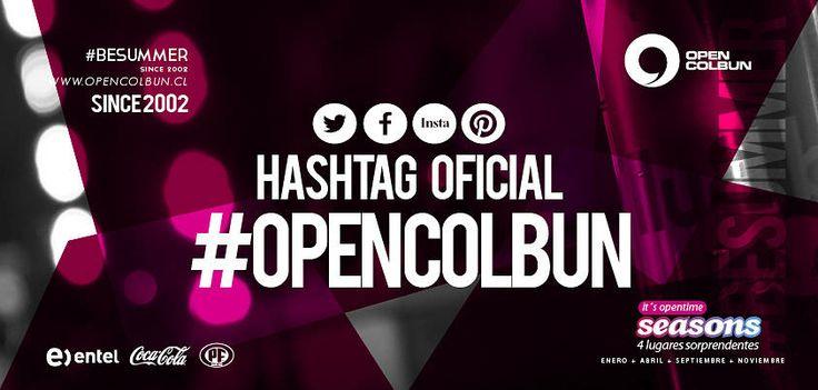 Mañana queremos ser trending topic, tomarnos las redes y decirle a Chile entero que somos una gran fiesta. Hashtag oficial: #opencolbun