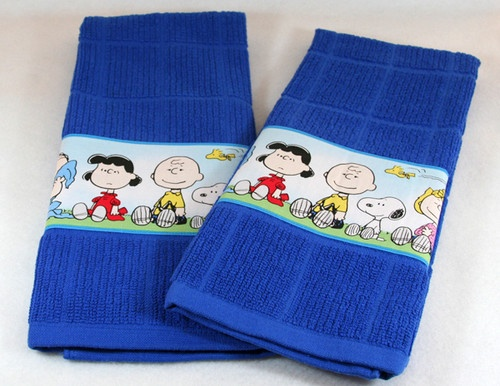 PEANUTS SNOOPY KITCHEN DISH TOWEL SET OF 2 HANDMADE CUTE ~ FREE SHIP~ | eBay