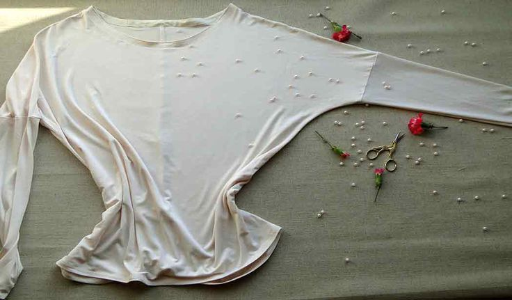 Luźna bluzka z rękawem kimono