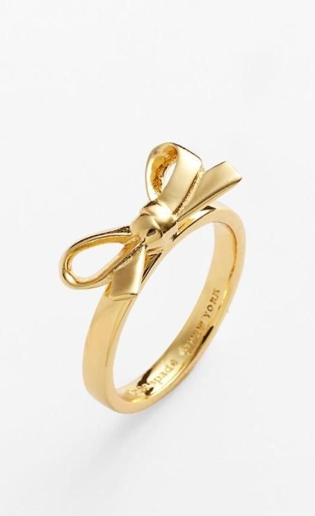 Sweetest Kate Spade bow ring. In love!